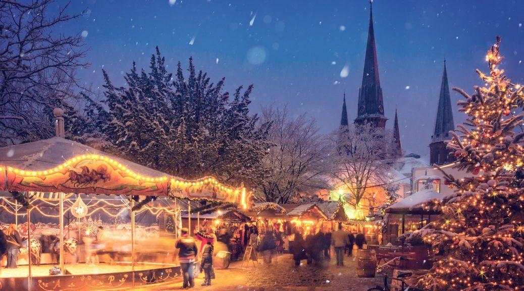 Weihnachten Markt Winter